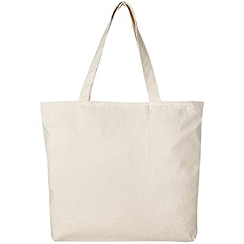 d16c3e4dc Amazon.com: BagzDepot [PACK OF 12] - Heavy Canvas Large Blank Tote ...