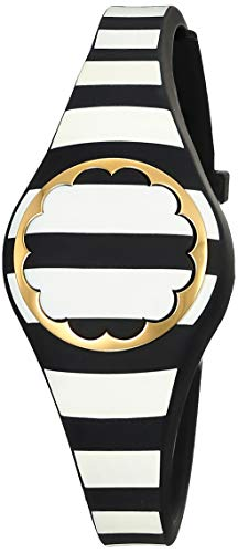 (kate spade new york black and white stripe scallop activity tracker)
