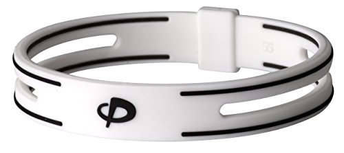 Phiten S-PRO Titanium Bracelet, White, 6.75-Inch (Bracelet Phiten Titanium)