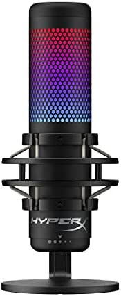 HyperX QuadCast - USB Condenser Gaming Microphone, for PC, PS4 and Mac, Anti-Vibration Shock Mount, Four Polar