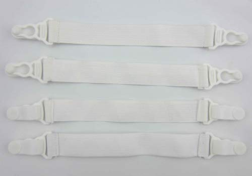 Utrax 4 Pcs Elastic Bed Sheet Straps Grippers Sheets Ironing Clip Buckles Holder