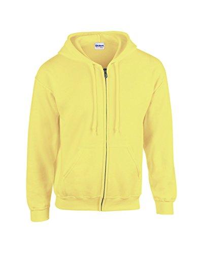 Gildan GD58, 50/50 policotone, sicurezza blend® Felpa unisex con cerniera e cappuccio, taglia L, colore: verde