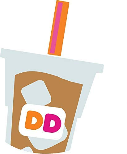 MR3Graphics Magnet Dunkin Donuts Iced Coffee Logo Magnetic Car Sticker Decal Bumper Magnet Vinyl 5
