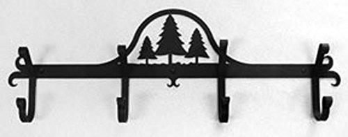 "Iron Coat Rack-Towel Rack Bar Trees - 24"" Heavy Duty Metal C"