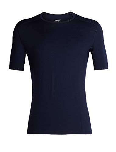 Icebreaker Merino Men's 200 Oasis Short Sleeve Crewe, Midnight Navy, Large