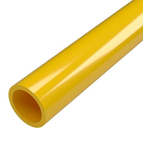 FORMUFIT P114FGP-YE-5 Schedule 40 PVC Pipe, Furniture Grade, 5, 1-1/4 Size, Yellow