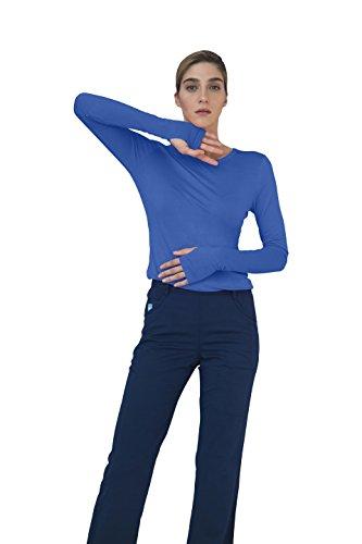 Adar Indulgence Long Sleeve Fitted Luxury Scrub Tee - 4500 - Royal Blue - - Alabama Polo Outlet