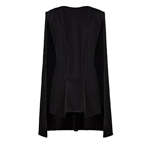 Noir Cardigan Veste Manteau Trench Outwear Esailq Vrac Blazer Cape 5faX0x7q0w