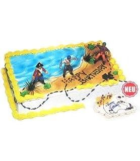 Dekoration Piratenschiff Fur Kuchen Amazon De Spielzeug