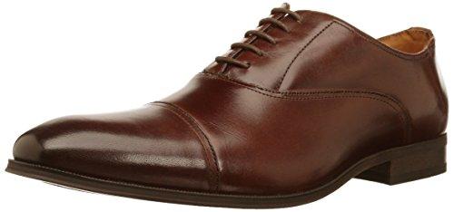 Florsheim Men's Casablanca Cap Toe Dress Shoe Lace up Oxford, Cognac, 9.5 D US (Brown Burnished Oxford)
