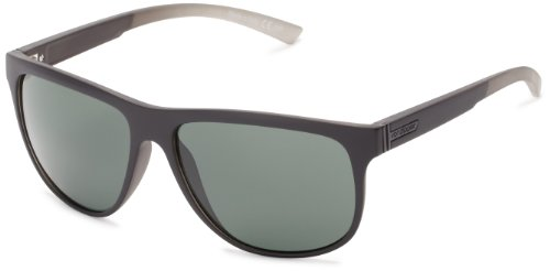 VonZipper Cletus  Sunglasses,Black & Smoke Satin,One - Eyewear Vz