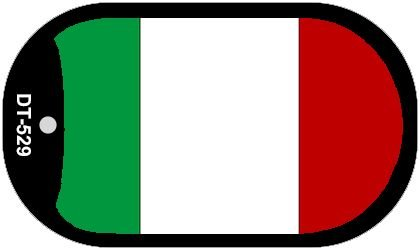 Italy Flag Metal Novelty Dog Tag Necklace DT-529 by Smart Blonde