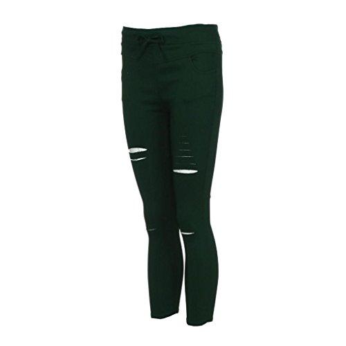 Pantaloni H Elasticizzati Skinny Da Jeggings Donna Strappati Mambain nx6RnzU