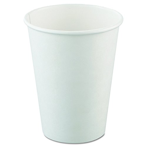 SOLO 412WN-2050 Single-Sided Poly Paper Hot Cup, 12 oz. Capacity, White (Pack of ()