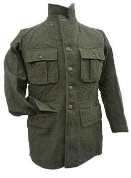 Vintage Swedish Wool Military Jacket 6 Pocket (41