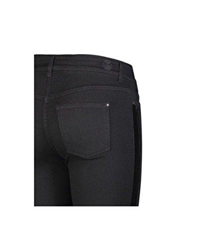 Mujer Skinny Slim Dream Velvet black Schwarz para Vaqueros MAC D999 Black Galloon R76nq
