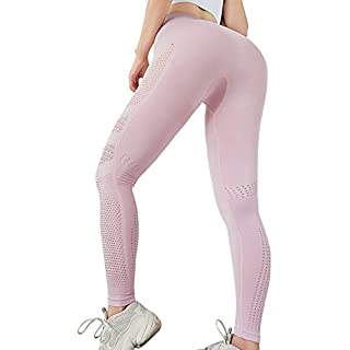 A AGROSTE Women's High Waist Workout Vital Seamless Leggings Tummy Control Stretchy Yoga Pants Butt Lift Sport Tights