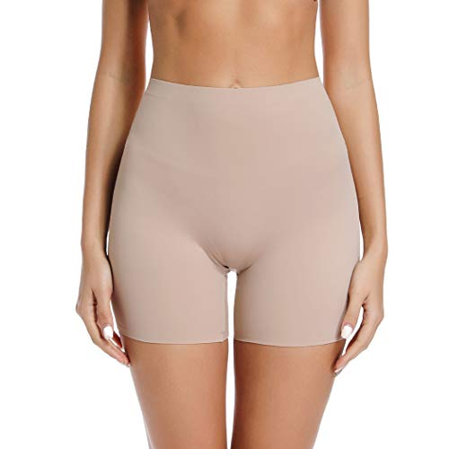 Joyshaper Slip Shorts for Under Dresses High Waisted Anti Chafing Underwear Smooth Under Skirt Shorts (Nude, M)