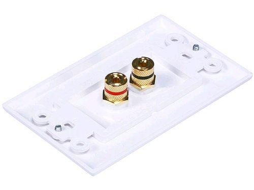 Banana Plug Binding Post Wall Plate for Speakers iMBAPrice/® Premium 8 Connector Banana Wall Plate 5 Pack