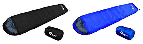 Almond By EGOZ Mummy Sleeping Bag Easy to Carry Warm Adult Outdoor Sports Camping Hiking With Carry Bag LightWeight Comfortable