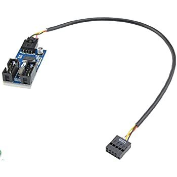 amazon com  motherboard 9pin usb header to 2 male