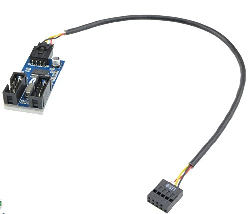 motherboard 9pin usb header to 2 male extension cable card