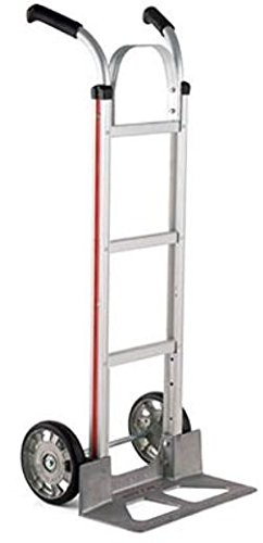 Magliner HMK116UA1 Aluminum Hand Truck, Double Grip Handle with Brace, 18'' x 7-1/2'' Aluminum Diecast Nose Plate, 500 lb Capacity by Magliner