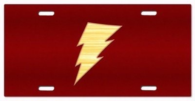 DC+Comics Products : Shazam - Captain Marvel -DC Comics v4 Vanity License Plate