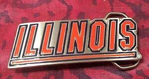 Illinois Buckle - Illinois Belt Buckle NCAA Buckles New Fighting Illini by Luxmart