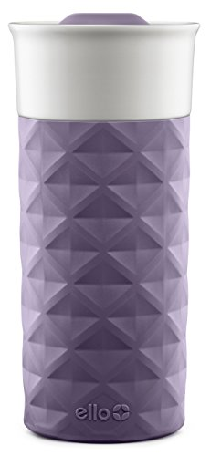 Ello Ogden BPA-Free Ceramic Travel Mug with Lid, Deep Purple, 16 oz