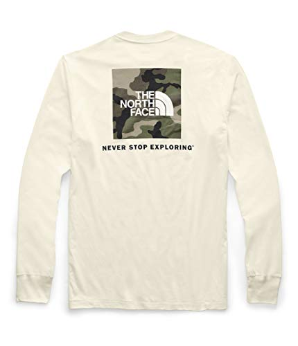 - The North Face Men's Long Sleeve Red Box T-Shirt Vintage White/Burnt Olive Green/Woodland Camo Print Medium