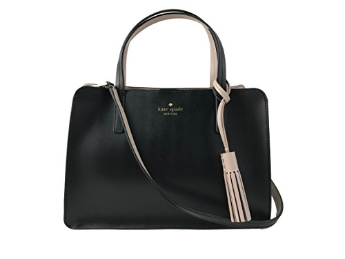 Kate Spade New York ilise Rowan Street Leather Satchel Handbag in Black/Rsecld
