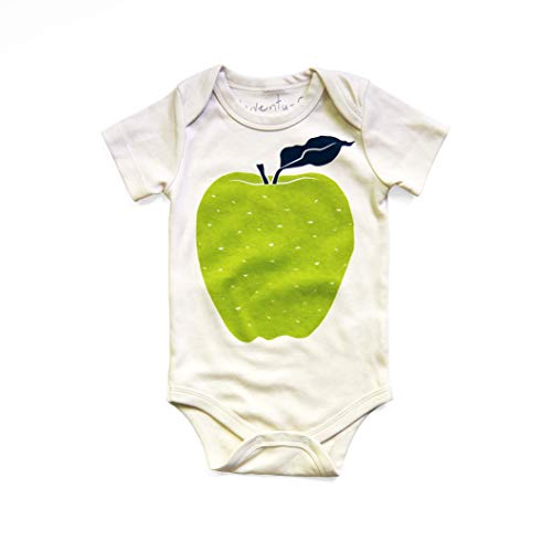 Green Apple 100% Organic Cotton Baby Bodysuit in Natural ()