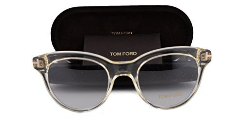 Tom Ford FT5378 Eyeglasses 49-20-145 Crystal Brown 026 TF5378 - Ford Clearance Tom