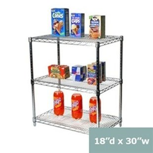 Wire Shelving with 3 Shelves ()