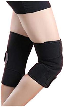Kaiyitong001 膝保護を実行ニーパッド、暖かい関節炎自己発熱ユニセックススポーツ,スタイリッシュで絶妙 (Color : Black)