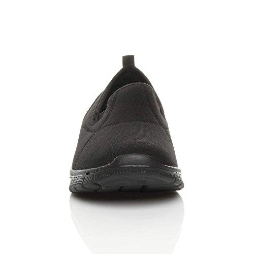 mémoire Baskets de à Sport Femmes mousse Slip en pour on sportifs Baskets forme Comfort Taille Noir Ajvani 0OTzq8