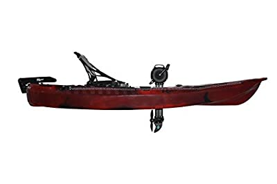 mako10 Riot Mako 10 Sit-on-Top Kayak with Impulse Pedal Drive, 10', Fire Storm red/Black by Sunny Concord
