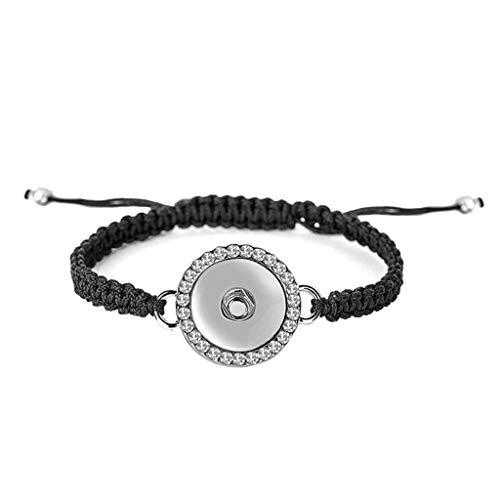 Ginger Snaps BLING 1 SNAP WOVEN BRACELET SN90-37 Fashion Bracelet Interchangeable Jewelry Accessory