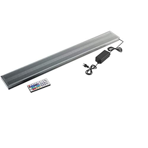 Image of Armana Productions LED Bar Display - Made in The USA - LED Illuminated Shelf, Remote Controlled - 3' Long x 4.5' Wide x 3/4' Thick Display Cases