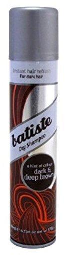 Batiste Shampoo Dry Dark & Deep Brown 6.73 Ounce (199ml) (6 Pack) by Batiste