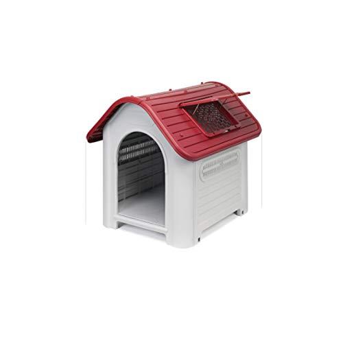 Casa de mascotas, caseta para Perros, al Aire Libre, Interior, Lavable, Impermeable, anticorrosión, casa de Perro mordedura: Amazon.es: Hogar