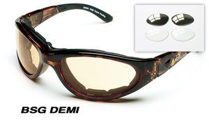Body Specs BSG Goggles, Demi Frame, Copper Mirror and Extra Light Rust & Clear