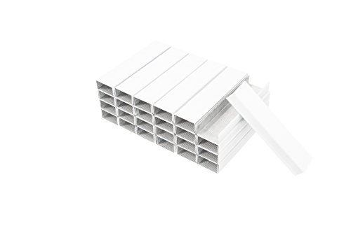 PraxxisPro Office Supplies, 1-Box, White, Colored Premium Standard Staples, 1/2-Strip Size (26/6), 5,000 staples