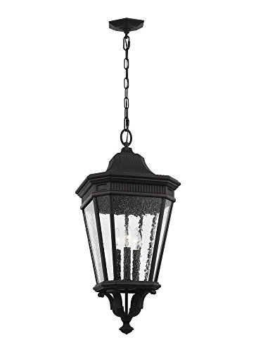 Pendant Cotswold Outdoor Lane (Feiss OL5432BK 3-Light Hanging Lantern, Black)