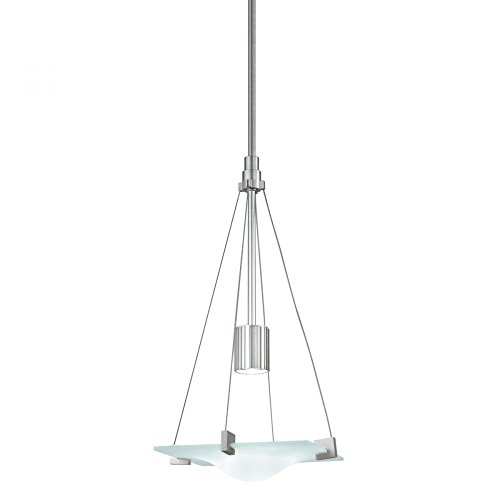 Sonneman 3401-04 3401.04 Contemporary Modern One Light Pendant from Handkerchief Collection in Pwt, Nckl, B/S, Slvr. Finish, 11.00 inches, 11