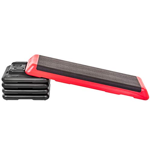 The Step Freestyle Aerobic Platform, Red - Health Club Size for Intense and Diverse Workouts