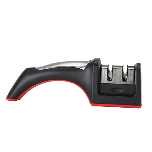 Kitchen Knife SharpenerTungsten Steel + Abs Material Two Slots Tpr Slip Bottom (Black)