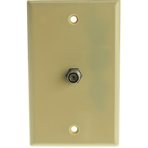 Hamptons Combo Unit (TV Wall Plate with 1 F-pin Coupler, Ivory)