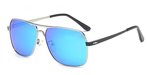 style retro du Glacier Bleu cercle de métallique vintage inspirées soleil polarisées rond lunettes Lennon en I6wgXqYx